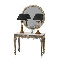 Chelini console table fcbm1116 lamp