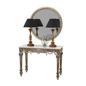 chelini console table 3ds