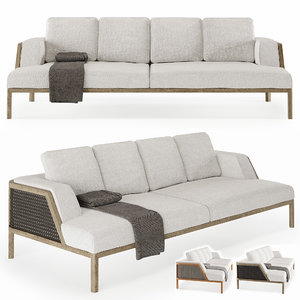 outdoor sofa grand life 3D model