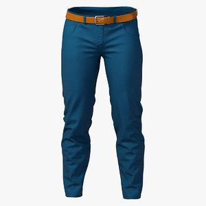 3D elegant pants