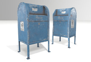 postboxes boxes 3D model
