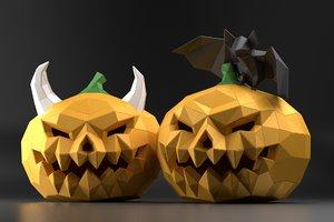 3D model halloween pumpkins