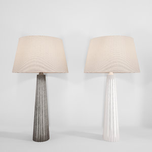 fluted spire large table lamp 3D model