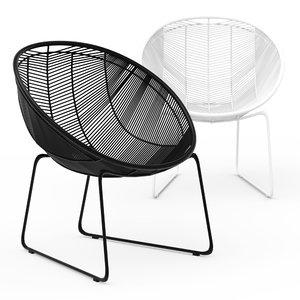 3D rattan weave chair