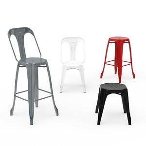 kraft chair 3D model