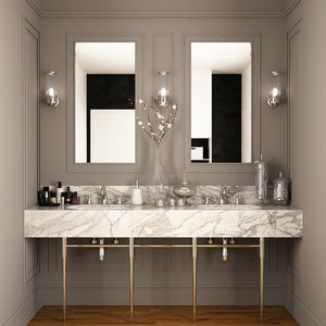 sink decor washbasin 3D model