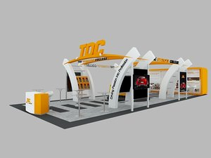 3D model toc exhibition booth: