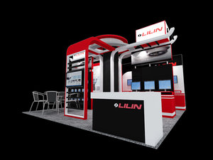 3D lilin exhibition booth: