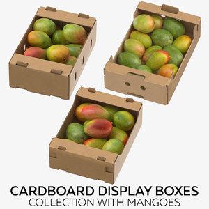 cardboard display boxes mangoes 3D