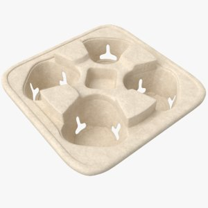 3D real drinks tray