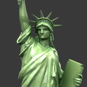 3D modeled statue liberty