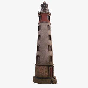3D model old lighthouse