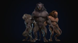 humanoid lion 3D model