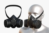Gas mask protection plastic Black