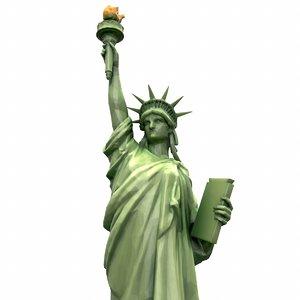 3D modeled statue liberty