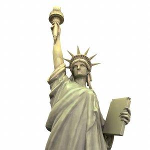 3D modeled statue liberty model