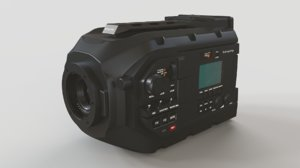 blackmagic ursa mini movie camera 3D model