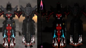 3D model armor staff pbr