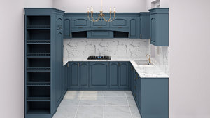 kitchen neoclassic interior 3D model