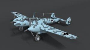 messerschmitt bf110 wwii airplane 3D model