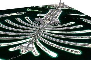 palm jumeirah dubai 3D