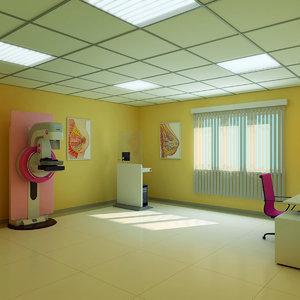 3d model mammography room