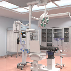 3d model gynecological room