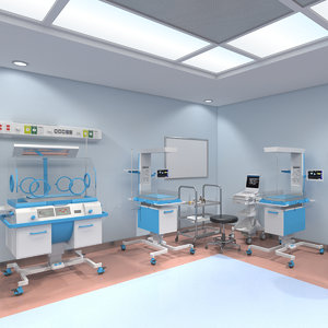 3D neonatology room