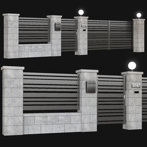 3D fence gate intercom