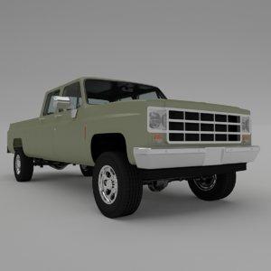 pick-up 6 3D model