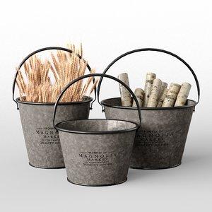 milk bucket 3D model