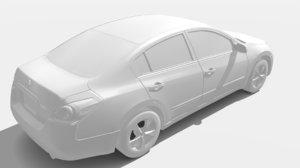 nissan altima 2009 3D model