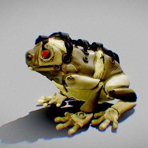 3D model cyber frog