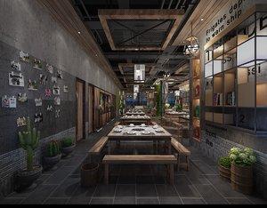 3D restaurant hongkong model