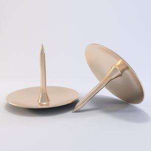 pin drawing 3D model
