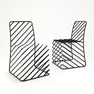 black lines chair model