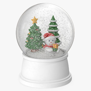 snow globe christmas decoration 3D model