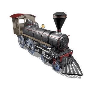 3D train locomotive railroad