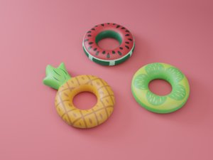 3D inflatable fruits float 3 model