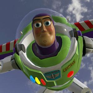 3D buzz falling place model
