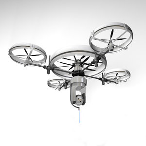 3D model aviation aircraft drone