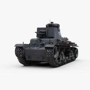 3D model ww2 german panzer 35