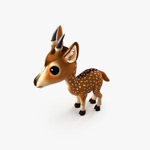 deer baby 3D model