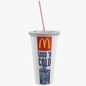 3D paper soda cup