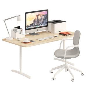 ikea bekant office chair 3D