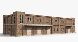 3D ready warehouse factory model