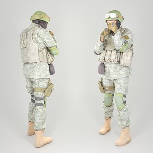 american soldier 3D model
