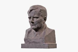 dmitri shostakovich bust 3D model