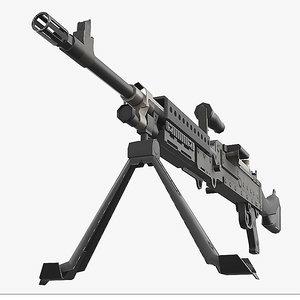 machine gun m240 3D
