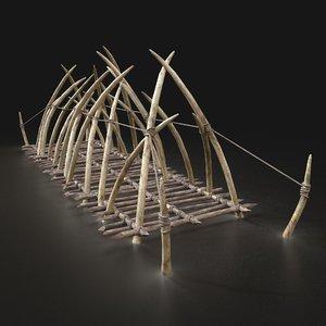 aaa orcish rope bridge 3D model